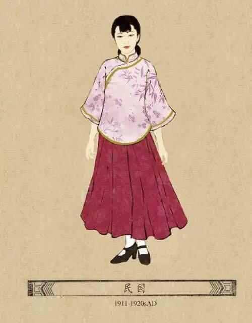 Republic of China, woman dress