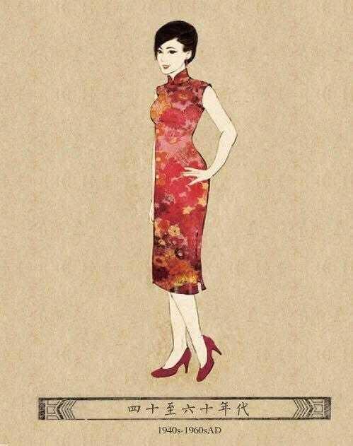 The 1940s and 1960s, China, cheongsam