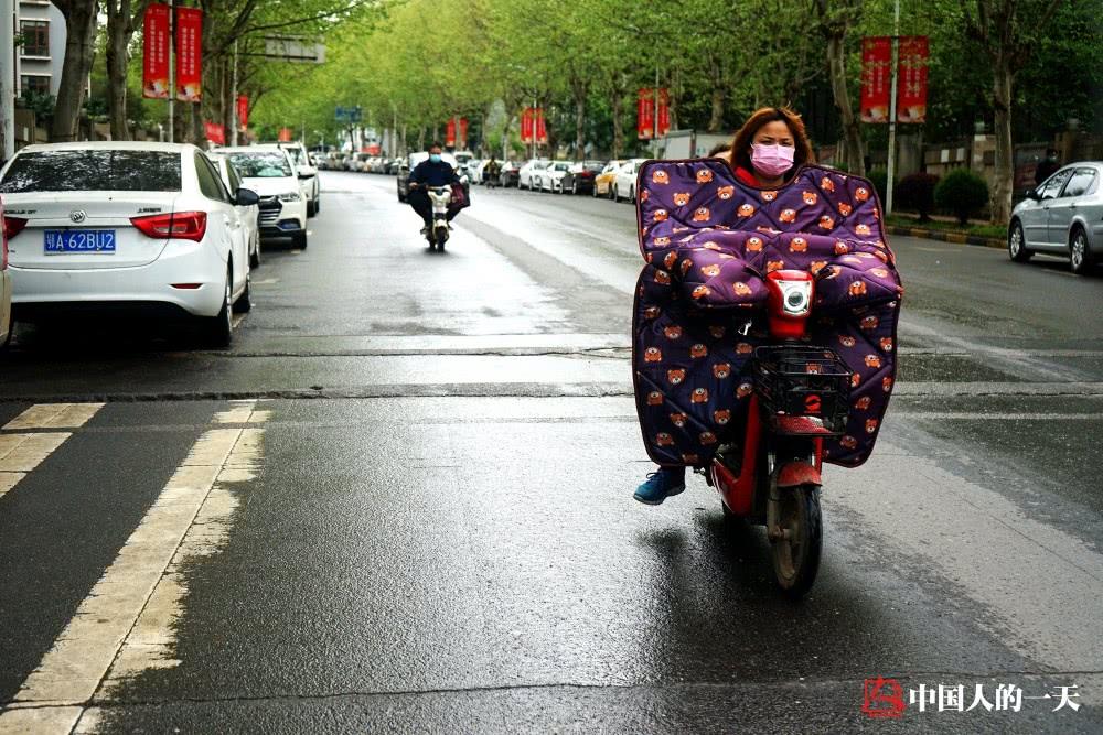 Pedestrians in Wuhan streets