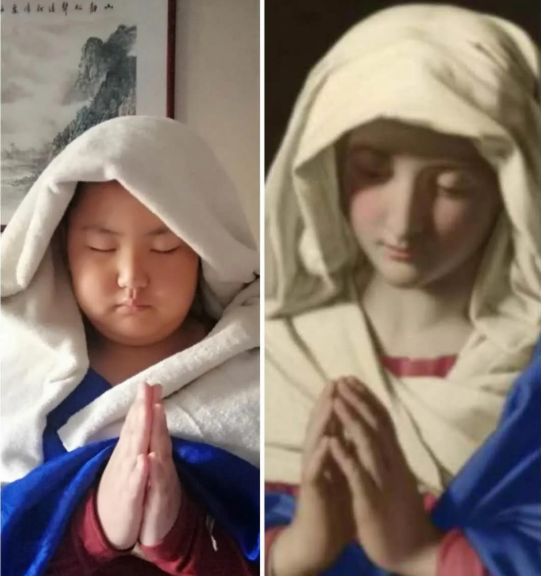 Chinese Elementary School Students Cosplay World-famous Paintings