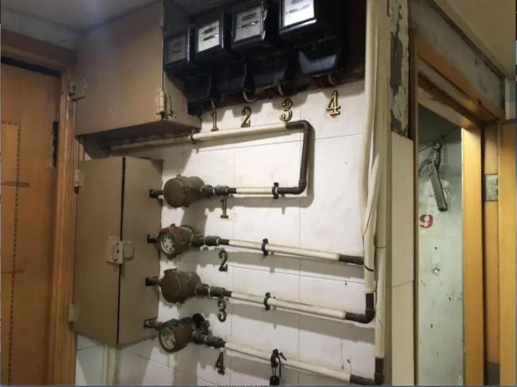 Hongkong, water meter for each household